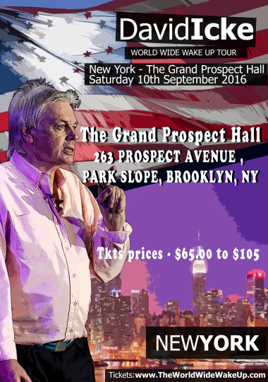 David Icke Speaks in Brooklyn, Sat., Sept. 10 on World Wake-Up Tour